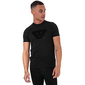 Men's Armani Emoji Logo Camiseta en negro