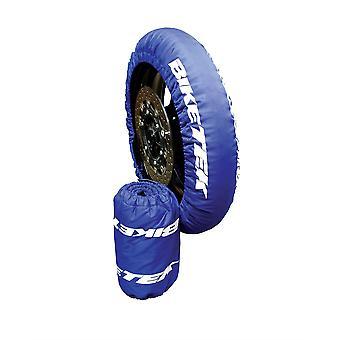 BikeTek Motorcycle Tyre Warmers UK 3-Pin Front Fitment 90 70-17 Rear 125 55-17