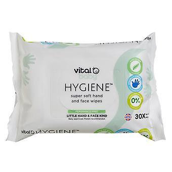 Vital baby hygiene super soft hand & face wipes fragrance free 5 packs