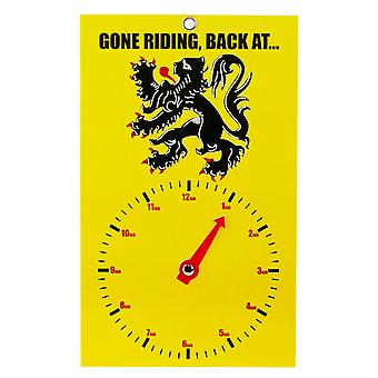 Gone Riding Clock Face - Lion Of Flanders