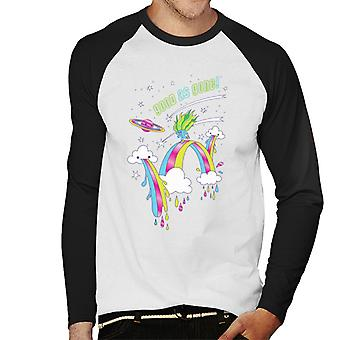 Trolls Good As Gone Rainbow Roller Skating Men's Baseball Long Sleeved T-Shirt