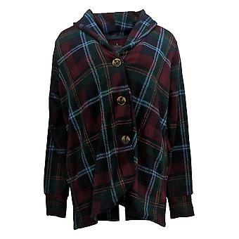 Cuddl Duds Women's Sweater Fleecewear Stretch Button Blazer Purple A369667