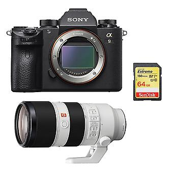 SONY A9 + SEL 70-200MM F2.8 GM OSS + 64 GB karty SD