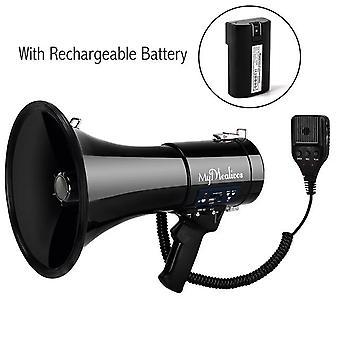 Modos de alarme de voz e alarme de sirene do megafone portátil com volume