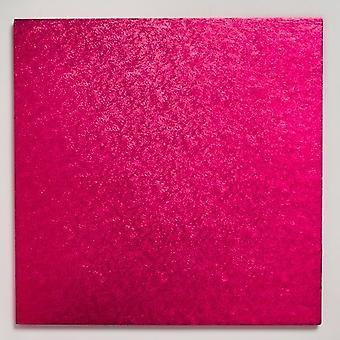 12&(304mm) Cerise Square Cake Board - singel