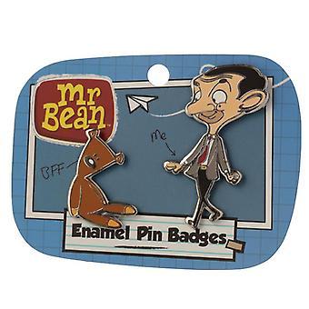 Sammlerstücke mr Ban und Teddy Design Emaille Pin Abzeichen Set