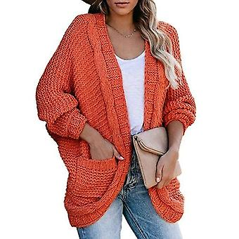 Batwing Sleeve Knitted Sweater Cardigan Coat