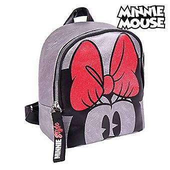 Casual backpack minnie mouse (18 x 21 x 10 cm) silver