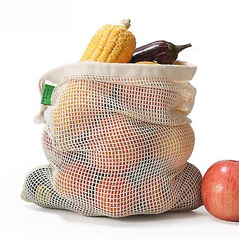 Cotton Mesh Bag Cotton Mesh Shopping Bag Vegetable And Fruit Bag Drawstring Drawstring Bag