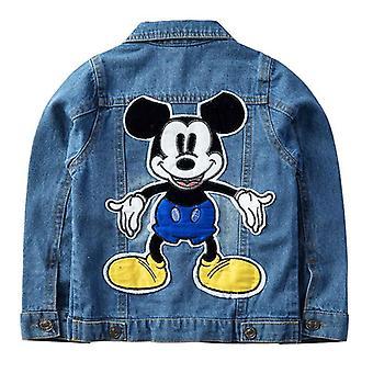 Children Mickey Denim Jackets Coat Kids Printing Outerwear