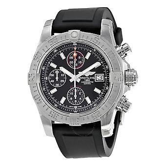 Breitling Avenger II Automatic Chronograph Black Dial Black Rubber Men's Watch A1338111-BC32BKPT