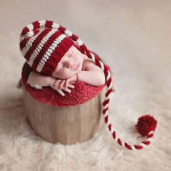 Baby Knitting Long Tails Christmas Hat