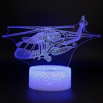 3D Illusion Lampa 7 kolory Optyczna zmiana Touch Light USB i pilot art deco Make A Romantic Atmosphere Christmas Valentine's Birthday Gift -Plane#273