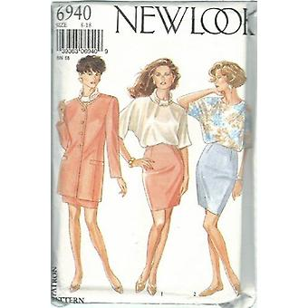 New Look Sewing Pattern 6940 Misses jacket Top Skirt Size 8-18 Uncut