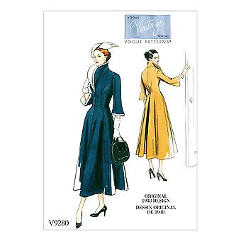 Vogue Ompelu kuviot 9280 Misses Close Fitting Mekko Koko 6-14 Leikkaamaton