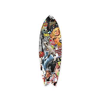 Pop art culture surfboard