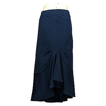 Du Jour Rok Asymmetrische Ponte Knit Rok W / Pintuck Detail Blauw A354422