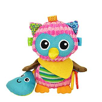 Colorful Owl Rattle Toys With Sound Paper Bb Device Teether Plush Baby Hanging Toys Colorful Rattling Doll For Infant