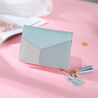 Tassel Short, Patchwork, Card Holder Wallets, Zipper Purses