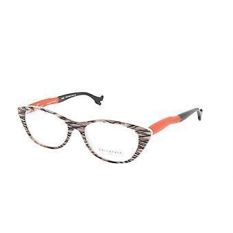 Gezicht Een Gezicht Eyeglasses Frame BOCCA SEXY 1 Col. 252 Acetaat Fiber Wite Orange