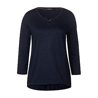 Cecil 313172 Fenja T-Shirt, Blue (Deep Blue 10128), X-Small Woman