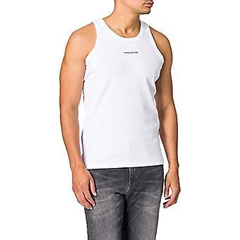 Calvin Klein Jeans Micro Branding Tank Top T-Shirt, Bright White, XL Men's