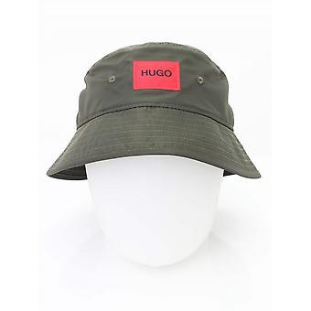 HUGO Patch Logo Bucket Hat - Dark Green