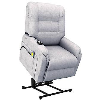 vidaXL masaż fotel TV ze stand-up pomocy Elektryczna jasnoszary materiał