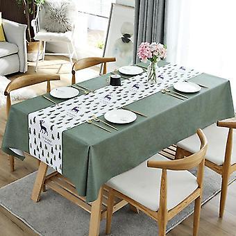 Rechteckiges Tischtuch wasserdicht und ölsicher PVC elegante Tischdecke