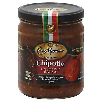Casa Martinez Salsa Chipotle Fire Rstd, Koffer van 6 X 16 Oz