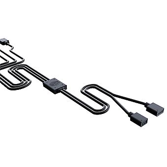 Chladič Master Trojitý RGB splitter kábel pre adresovateľné RGB ventilátory a pásy