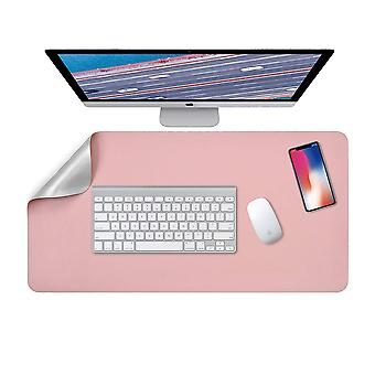 Desk Pad, Laptop Table Pad, Double-sided 80 X 40 Cm (pink / Silver)