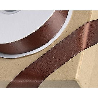 25m Chocolate Brown 3mm Wide Satin Ribbon for Crafts
