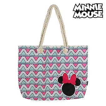 Beach Bag Minnie Mouse 72927 Pink Cotton