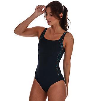 Women: n Speedo-veistos LunaLustre painettu uimapuku sinisellä