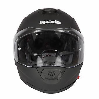 Spada RP En Full Face Motorsykkel hjelm svart integrert solskjermen