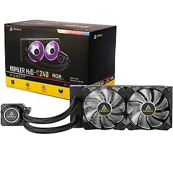 Antec Kuhler H20 K240 Universal Socket 240mm PWM 2000RPM RGB LED AiO Liquid CPU Cooler med trådbunden RGB-styrenhet