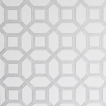 Arthouse Luxe Origin White Silver Wallpaper 295603