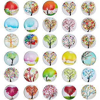 100 Stück Baum des Lebens Cabochons gedruckt halbe Runde/Kuppel Glas Cabochon für Scrapbooking,