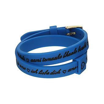 Il mezzometro i love you gold silicone bracelet  bmg1705