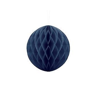 20cm marineblå silkepapir honeycomb ball bryllup fest dekorasjon