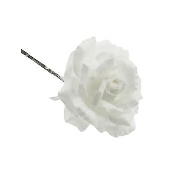 42cm Frosted Rose Stam | Witte