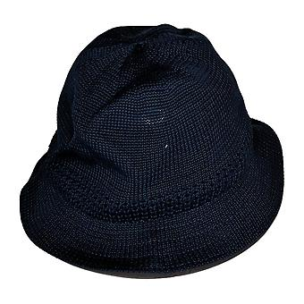 Stacy Adams Mesh Knit Polyester Bowler Hat Navy Blue