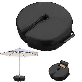 Parasol Parapluie Sacs de sable Stand Base Patio extérieur Parapluie Base Antitempérie Sac de poids (Noir)