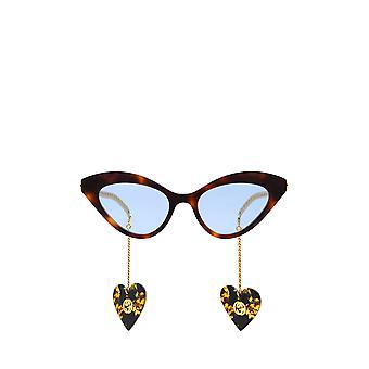 Gucci GG0978S havane lunettes de soleil féminines