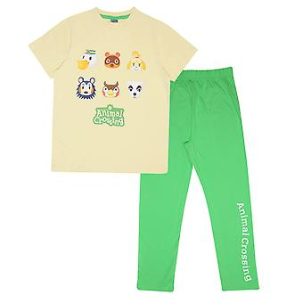 Copii animal crossing pijamale lung Set - Character Faces - Oficial Boys Girls