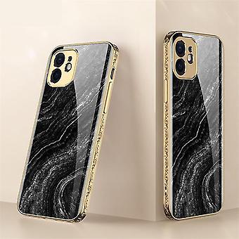 iPhone 12 Luxury Glass-Shell Gold Baroque Elegant Black Pink Rococo