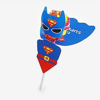 スーパーマンバットマン漫画キャンディロリポップデコレーションカード誕生日パーティー