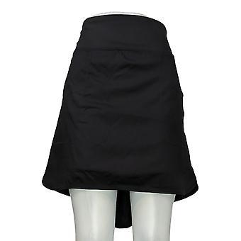 zuda Women's Plus Shorts Skort Style Black A381036