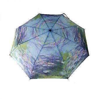 Paraply automatiskt Pocket paraply motiv näckrosor Claude Monet
